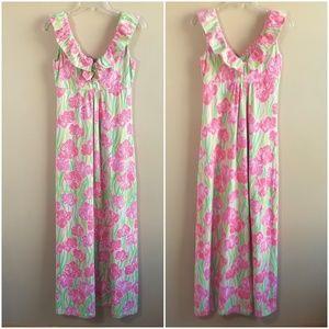 Lilly Pulitzer Ruffle Knit Maxi Dress,  size XS